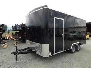 2017 16'X8.5' WIDE ENCLOSED SIDE X SIDE TRAILER 7000LB ROUND TOP