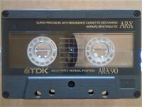 A2Z NOW VERY RARE TDK AR-X 90 1987-1989 ULTRA PREMIUM CASSETTE TAPES W/ C, C & L's & FREE P&P