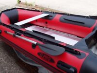 New 3.8m inflatable boat dinghy tender rib aluminium deck v keel fishing dive, like honwave zodiac