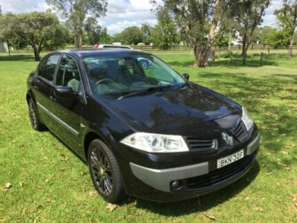 2007 Renault Megane X84 MY06 Upgrade Expression Black 4 Speed Automatic Sedan Tuggerah Wyong Area Preview
