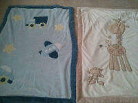 Excellent condition like new baby blankets