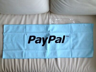 PAYPAL BRAND LOGO eBay HAND FACE TOWEL Towelling Body Collector BLUE LtdEdition