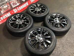 JDM MUGEN NR 17X7.0JJ OFFSET +53 5X114.3 MAGS WITH TIRES