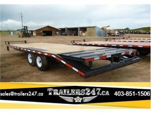 New 8.5X24' Deck Over Wheel Construction Trailer -*Tax In $
