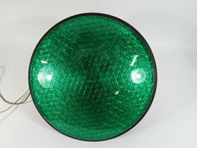 """Leotek TSL-12G-LX-IL3-A1 Green Traffic Signal 80-135VAC 12"""" USED"""