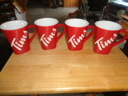 Tim Hortons Mugs - Set of 4 - 2018 - New