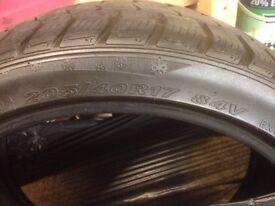 205 40 17 Nexen M+S tyres (pair) 5mm Tread.