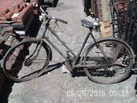1950's Raleigh Ladies Tourist Bicycle / Push Bike with Brooks Saddle