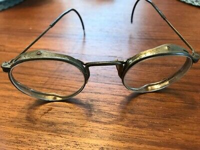 VINTAGE 1920S EYEGLASSES STEAMPUNK RETRO METAL FRAMES INDUSTRIAL CYBER (1920 Eyeglasses)