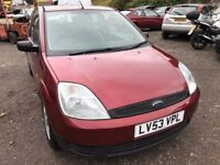 2003 Ford Fiesta, starts and drives well, 1 years MOT (runs out July 2018) very low mileage, 58,000