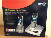 BT Diverse 6450 Set of 4 phones with Answering Machine