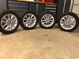BMW 1 Series winter tyres AND alloy wheel package.