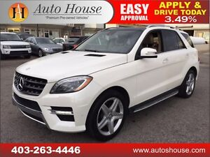 2013 MERCEDES ML 350 BLUETEC, NAVI, BCAM, ROOF, 90 DAYS NO PYMT