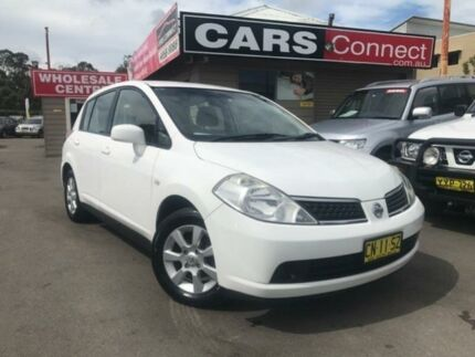 2009 Nissan Tiida C11 MY07 ST-L White 4 Speed Automatic Hatchback Edgeworth Lake Macquarie Area Preview