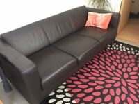 3 seater & 2 seater leather sofa *selling everything* HMO landlord furniture