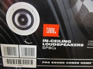 JBL SP8Cii 100W 8'' Ceiling Speakers -White-NEW IN BOX