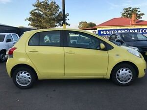 2010 Toyota Yaris NCP90R YR Yellow Manual Hatchback Sandgate Newcastle Area Preview