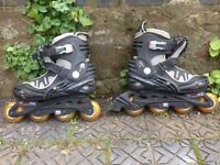 Size 6 Black Inline Skates