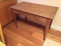 Vintage Solid wood 2 drawer Teachers Desk/Table - Beautiful item perfect for any room