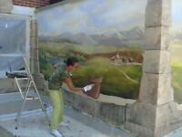 Murals, faux finishes