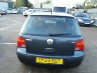 VW GOLF 1.9 TDI PD MATCH 2003 REG 12 MONTHS MOT DIESEL 5DR HATCHBACK