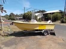 project fibreglass boat, licensed trailer and motor Dunsborough Busselton Area Preview