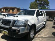 2011 Toyota Hilux KUN26R MY11 Upgrade SR (4x4) White 4 Speed Automatic Cab Chassis Sylvania Sutherland Area Preview