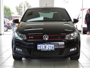2014 Volkswagen Polo 6R MY14 GTi Black 7 Speed Automatic Hatchback Morley Bayswater Area Preview