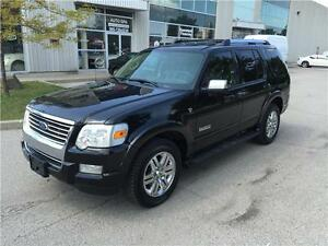 2007 FORD EXPLORER LIMITED 4X4*LTHR*DVD*MOON*3RD ROW*NO ACCIDENT