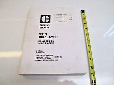 Caterpillar 571g Pipelayer Parts Manual Heavy Equipment Construction