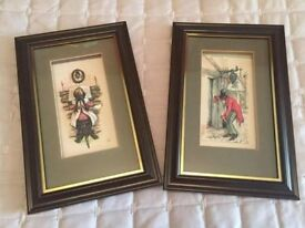 Mahogany Framed layerd old time pictures