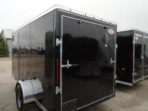 2017 Enclosed cargo trailer HAULIN 6 X 12 ramp door, AERODYNAMIC London Ontario image 3