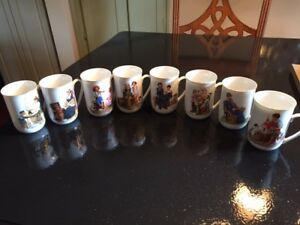Complete set of Norman Rockwell Cups in original box