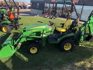 NEW John Deere 1025R TLB with 120R Loader and 260 Backhoe