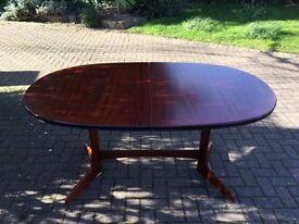 extending mahogany dining table