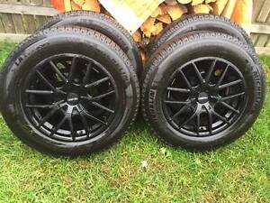 235/65R18 Michelin Winter Tires with Alloy Rims