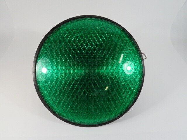 "Dialight 433-2220-001 Green Traffic Signal 120VAC 12"" USED"
