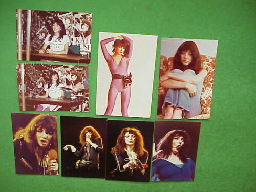 "Lot - 8 Kate Bush Fan Club 4""x6"" & 3.5x5"" original colored Photos from 1970s/80s"