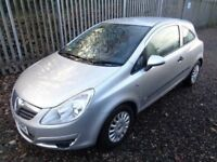 VAUXHALL CORSA 998cc 2007 3 DOOR PETROL SILVER 85,000 MILES 12 MONTHS M.O.T FULL SERVICE HISTORY