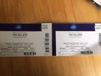 The Killers o2 Arena 27/11 Seating X 2