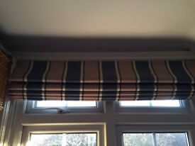 Stripped Laura Ashley Roman Blind For Sale
