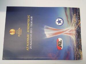Programm AZ ALKMAAR - ATROMITOS PERISTERI E. League 2013/14 Netherlands Greece - Poland, Polska - Programm AZ ALKMAAR - ATROMITOS PERISTERI E. League 2013/14 Netherlands Greece - Poland, Polska