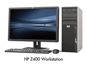 HP Z400 Workstation i7 Xeon 12GB RAM 256GB SSD HDD x64 VT