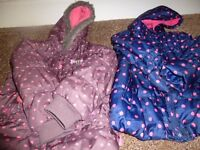 Girls coats age 4-5 years .peppa pig coat.blue zoo coat.winter coat age 4-5