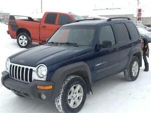 2002 Jeep Liberty Sport $4750 LOW KMS BEAUTY MIDCITY 1831 SK AVE
