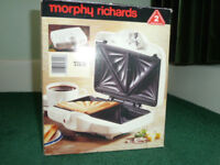 MORPHY RICHARDS SANDWICH TOASTER, AS NEW, UNUSED, COLLECTION ONLY