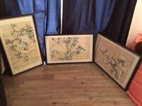 Silk Screen Prints Oriental