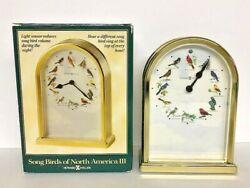 Howard Miller Song Birds of North America III Table or Desk Clock 645-405