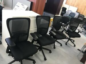 Haworth Zodi chairs black , excellent condition  $249.00