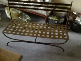 Metal toy bench for example small teddies/dolls